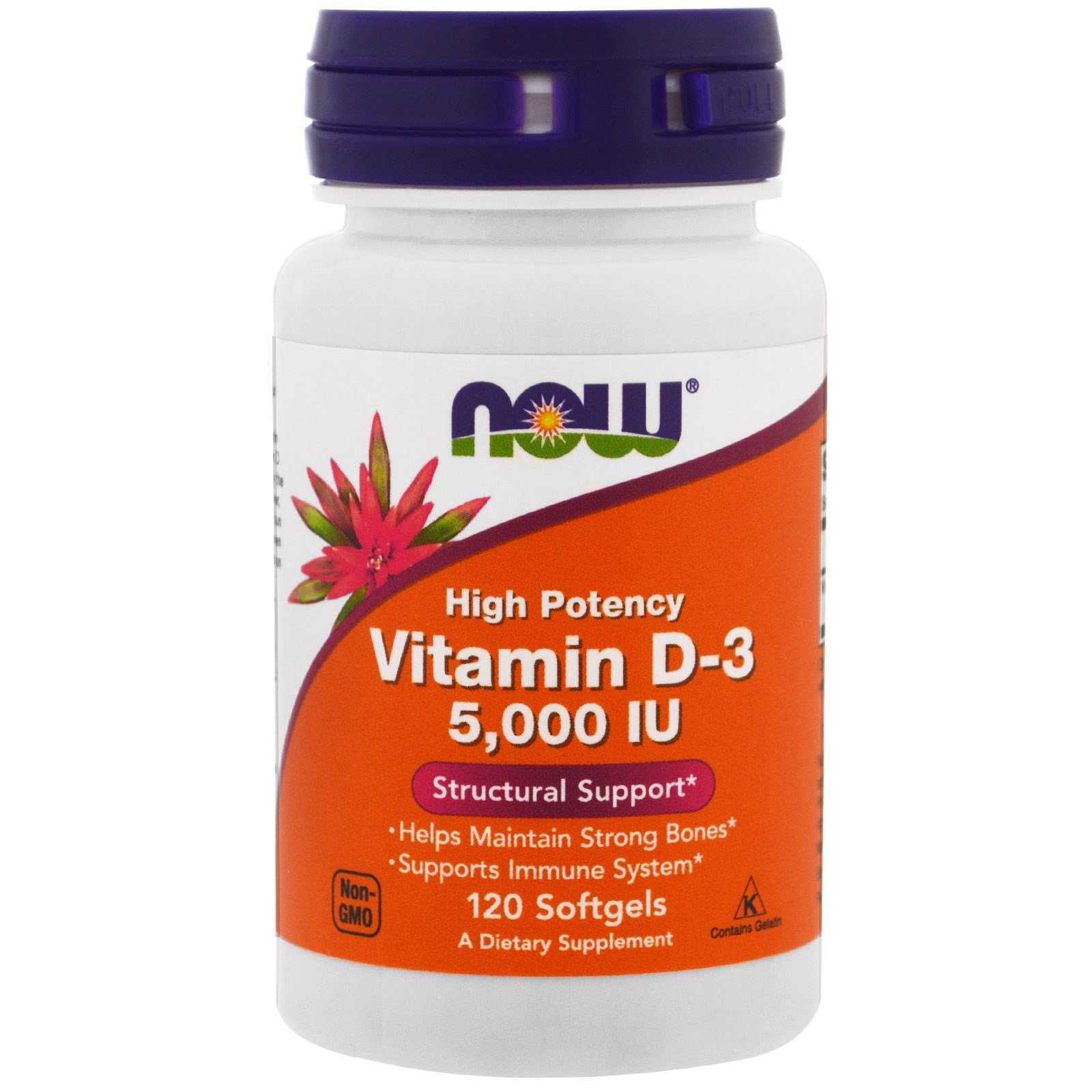 vitamina d 3 1 - Now Foods - Vitamina D-3 5,000 IU 120 Softgels (Produto Importado)